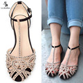 G.L.BROTHER Brand Gladiator Sandals Women Rhinestone Sandals Shoes Woman Sandals Flats Sandalias Mujer Feminina 2017