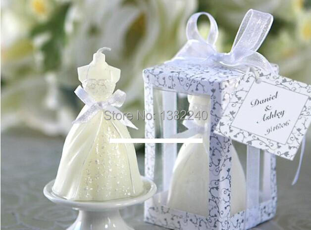 small wedding candle wedding favors table decorations guest gifts ...