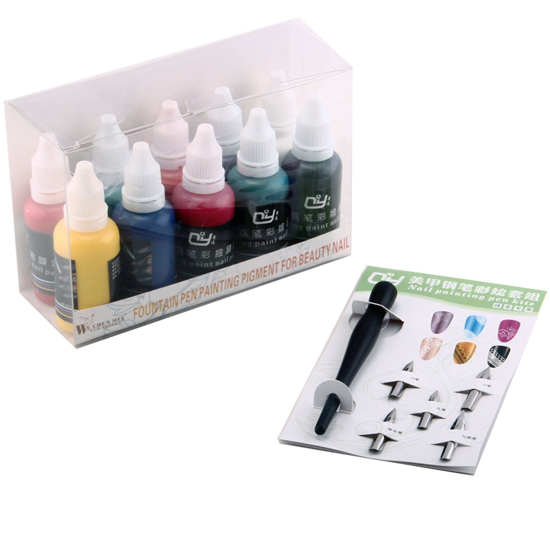 Professional New 10 Colors 30mleach Fountain Pen Painting Pigment