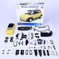 Kits modelo de Construção de MINI COOPER 2001 1:24 Assembléia Toy Kids dom mini carro diy modelos colecionáveis diecast metal brinquedos para presente