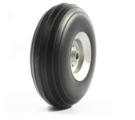 RC Airplane PU wheel with Dia-Casting Aluminum hub 3.25''/83mm image