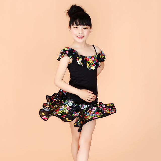 1a7756cd3eeb Girls Dancing Disfraces Children Competition Latin Dance Dress 2 16 ...