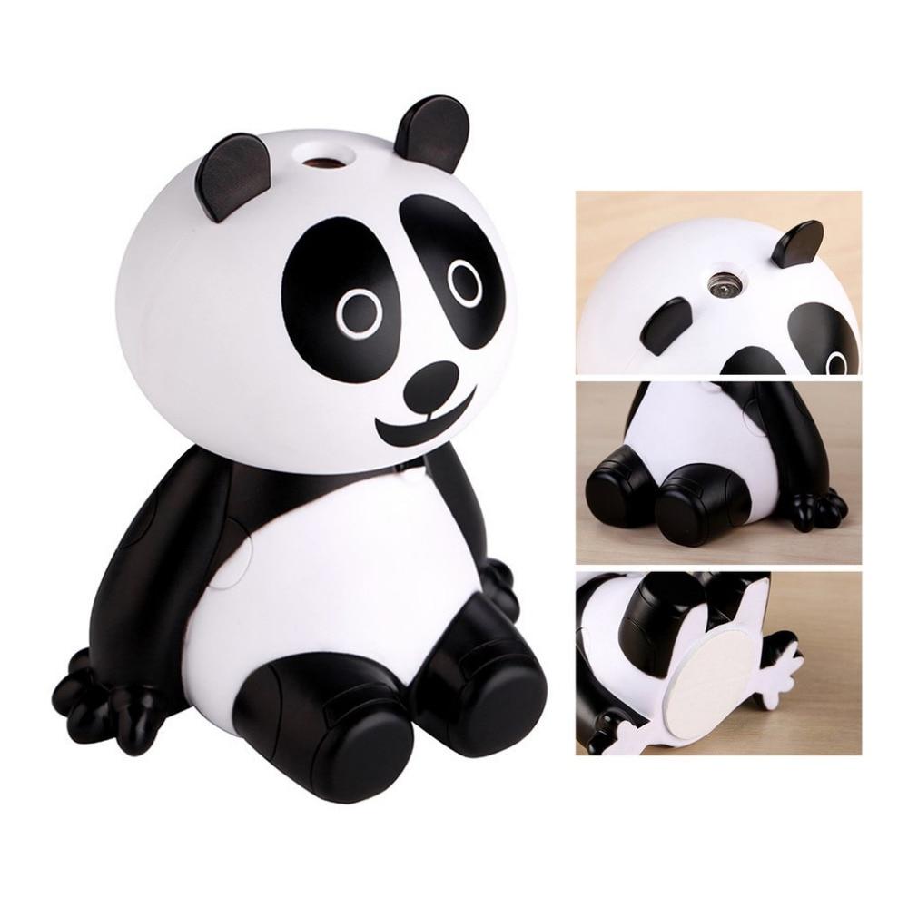 Panda USB Air Humidifier Animal Panda Shape Air Purifier Home Office Humidifier Essential Oil Diffuser Electric Mist Maker цена 2017