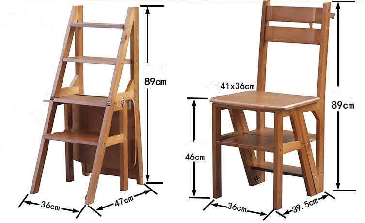 Super Convertible Multi Functional Four Step Library Ladder Chair Library Furniture Folding Wooden Stool Chair Step Ladder For Home Forskolin Free Trial Chair Design Images Forskolin Free Trialorg