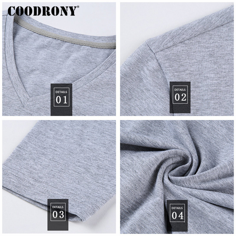 COODRONY Μπλουζάκι T-Shirt Men 2018 Φθινόπωρο - Ανδρικός ρουχισμός - Φωτογραφία 6