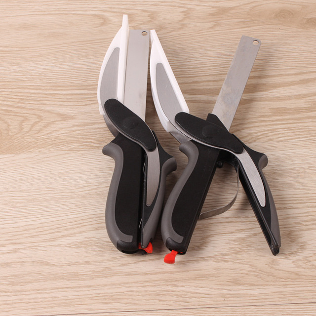 Inteligentny Wielofunkcyjny Sprytny Nożyczki Kuter 2 w 1 Deska Do Krojenia narzędzie cutter Stal nierdzewna Ourdoor Inteligentny Warzyw Nóż - aliexpress