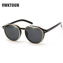 VWKTUUN Unisex Sunglasses Personality Double Sun Glasses Mens/Women Sunglasses Brand Designer Fashion Clip on Sunglasses