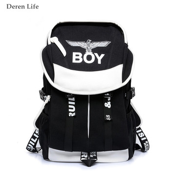 New 2016 Designer Brand Black Canvas Backpack School Bags Preppy Style Ultralight Fashion Exo Bgpack Mochilas Rugzak new style school bags for boys