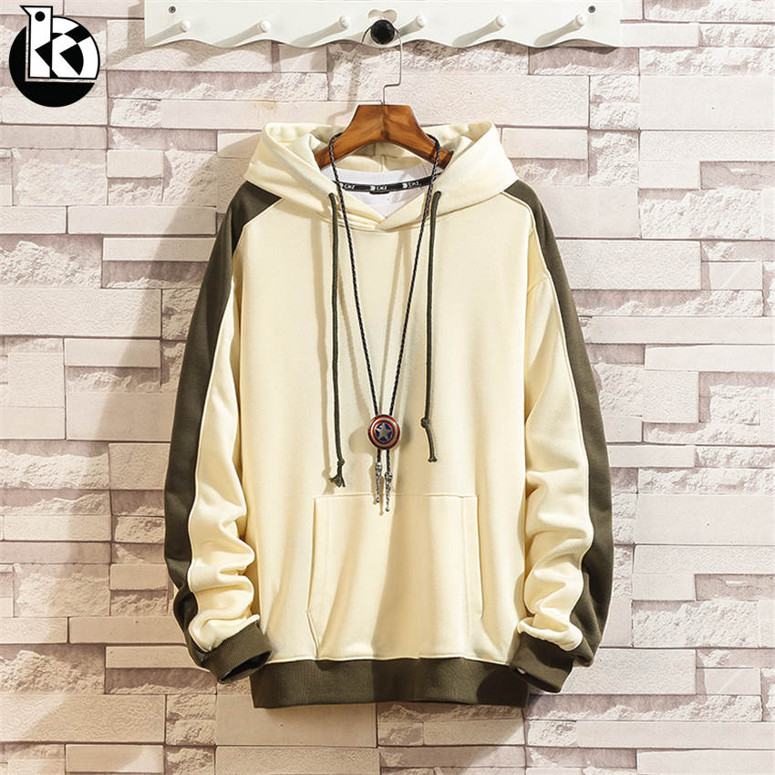 2018 Autumn And Winter New Japanese Retro Loose Hooded Sweatshirt Men Fashion Casual Trend Color Cotton Long Sleeve Mens Hoodies