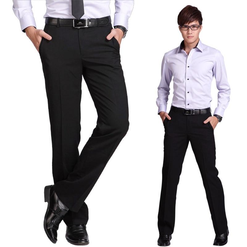 High Quality Brand-clothing Mens Dress Pants Slim Trousers Fashion Mens Pants Formal Brand Wedding Business Pantalones Hombre