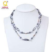 Mẹ đẹp của pearl vỏ hạt vòng cổ khoai tây ngọc trai nước ngọt necklace với đá chips handmade beaded necklace