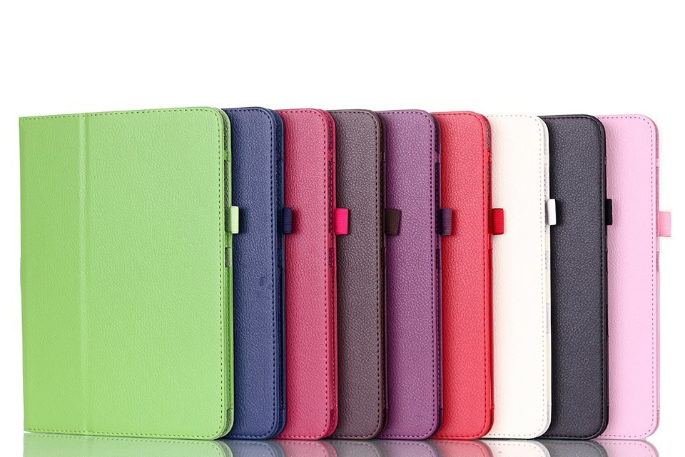 Wholesale simple covenient clemence kickstand PU leather +hard PC  cover for Samsung Galaxy 10.1 inch Tab4 T530 SM-T531 T535
