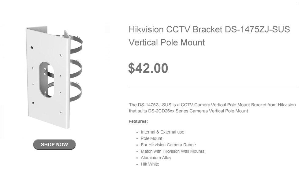 Hikvision 4K Video Surveillance Camera DS-2CD2683G0-IZS 8 Megapixel IR 50m  Varifocal 2 8-12mm Lens Bullet IP Camera Outdoor