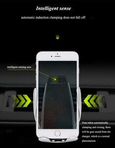 Image 3 - Inteligentny czujnik S5 uchwyt samochodowy Auto zacisk bezprzewodowa ładowarka dla iphoneX XS XR Samsung Note9 S10 S9 Qi 10W szybka ładowarka
