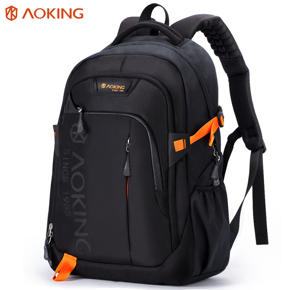 Aoking Men Women Fashion Lightweight Casual Travel Backpack Massage Shoulder Straps Laptop Backpack School Waterproof Rucksack