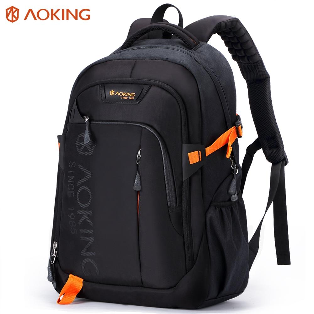 Aoking Men Women Fashion Lightweight Casual Travel Backpack Massage Shoulder Straps Laptop Backpack School Waterproof Rucksack