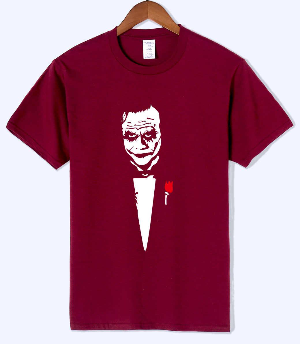 Новое поступление 2018 летняя футболка для мужчин Джокер Хит Леджер почему так Тяжелая Мужская футболка хлопок хипстерская одежда по аниме Harajuku Топ Футболка