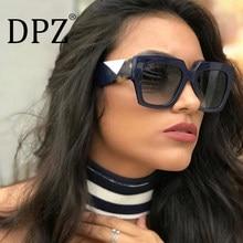 29e9752479 DPZ NEW Luxury Sunglasses Women Big Frame Gradient UV400 Sexy Ladies  Sunglases occhiali da sole Fending Style Sun Glasses