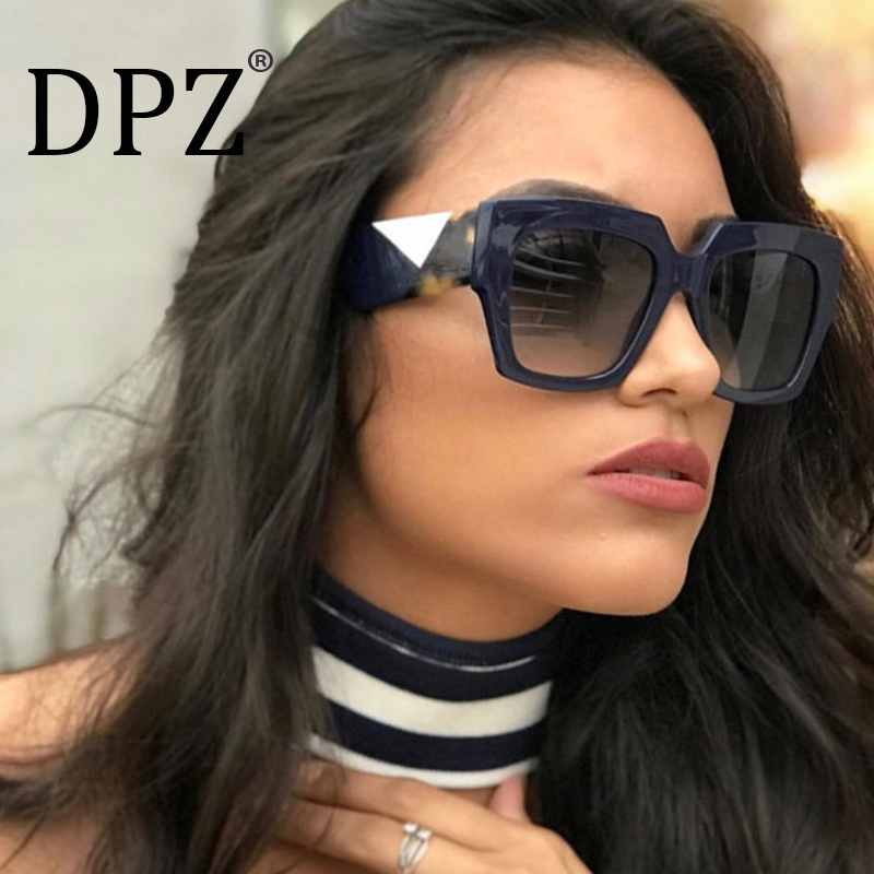 DPZ NEW Luxury font b Sunglasses b font font b Women b font Big Frame Gradient
