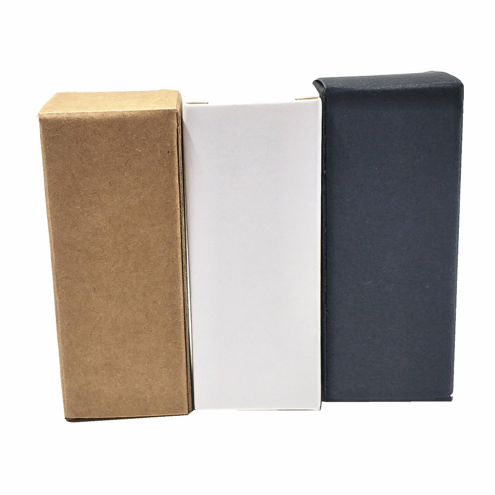 50Pcs Kraft Paper Small Gift Packaging Box Brown Craft Paper Lipstick Cosmetic Packing Boxes Small Perfume Bottle Package Boxes