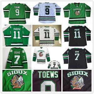 1bc68f264a8 North Dakota 7 T.J. TJ Oshie 9 Jonathan Toews 11 Zach Parise Hockey Jerseys  Fighting