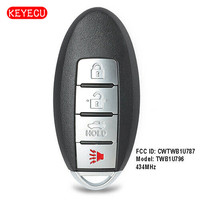 Keyecu Replacement Remote Key Fob 434MHz ID46 for Infiniti Q70 M56 M37 M35h QX56 FCC: CWTWB1U787