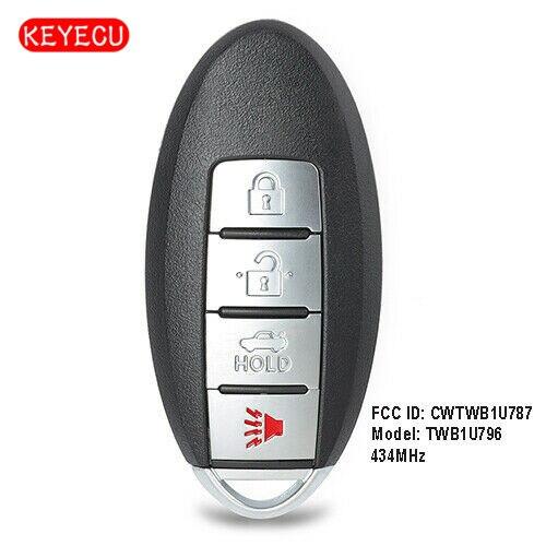 Keyecu Replacement Remote Key Fob 434MHz ID46 for Infiniti Q70 M56 M37 M35h QX56 FCC: CWTWB1U787