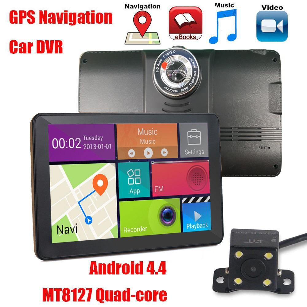 Vrfel 7 дюймов HD 1080 P Автомобильный видеорегистратор камеры автомобиля GPS навигации Android Bluetooth mt8127 грузовик GPS навигатор 15 м камера заднего вида