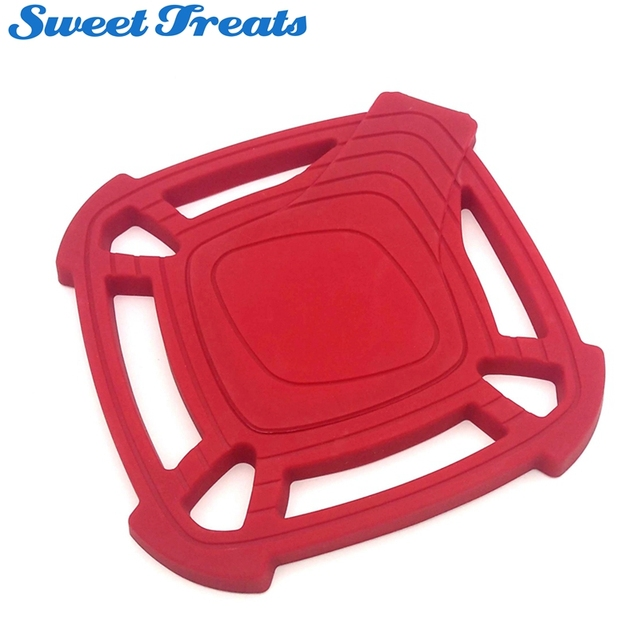 Sweettreats Silicone Trivet Hot Pad With Built In Spoon Rest Large