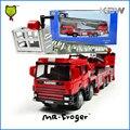 Mr. Froger Escalera Camión de Bomberos Modelo de aleación modelo de coche de metal Refinado Fuego vehículos Decoración Juguetes Clásicos KDW camión Fuego rescate