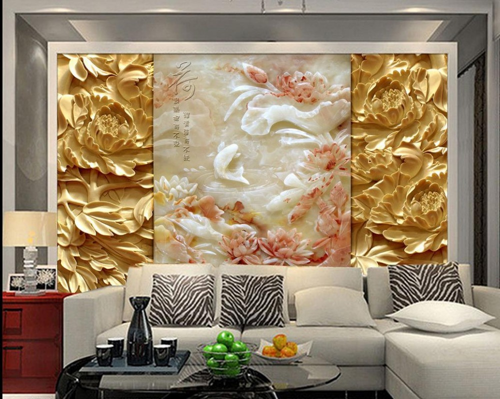 Chinese murals wallpaper 3d mural designs relief carvings for Chinese wallpaper mural