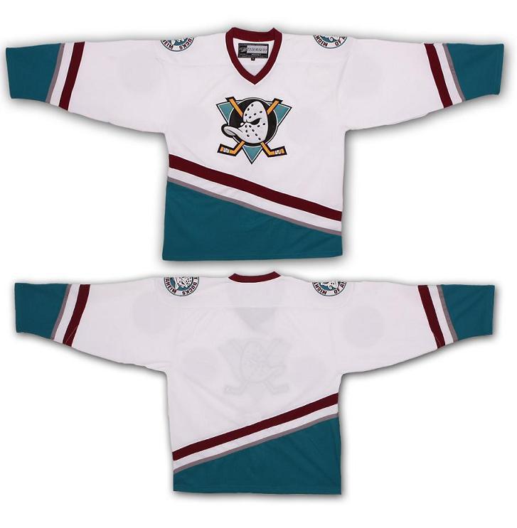 SexeMara Mens Mighty Ducks Movie Jersey Blank Ice Hockey Jersey Stitched White Color Hockey Jerseys custom any 2016 team uniform factory oem hockey jerseys embroidery mens tackle twill europe usa canada australia