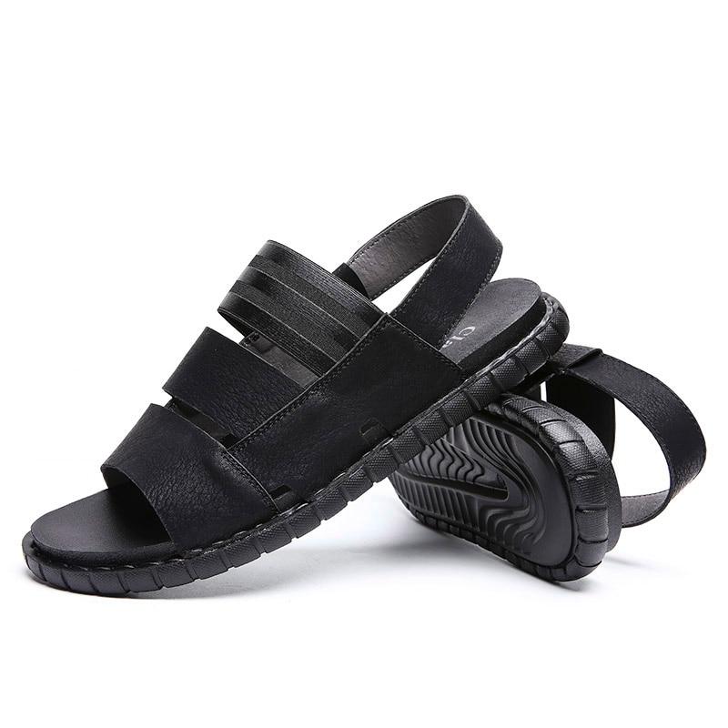 Classic Men Soft Sandals Comfortable Plus Size Roman Comfortable Summer Shoes in Men 39 s Sandals from Shoes