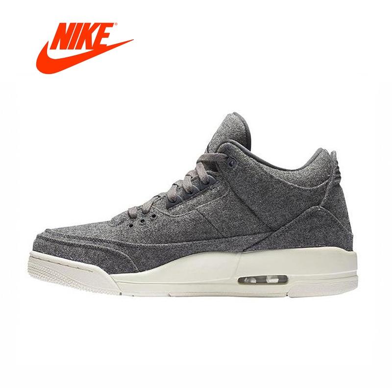 5742881c0e9 Original New Arrival Official Nike Air Jordan 3 Retro Wool Dark Gray Men  Basketball Shoes Sports Shoes 854263-004
