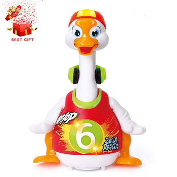 Litchi Goose Baby Dancing Hip Hop Swing 6 Months up, Super Fun EQ Development Educational Toys Flexible WalkingLightMusic toys for 2 month old