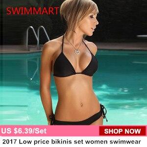 Triangle swimwear bikinis set  bandage