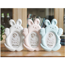 Cartoon Rabbit Shape Photo Frame Baby Kids Picture Creative Home Decoration 5/6 Inch Cute Frames Porta Retrato