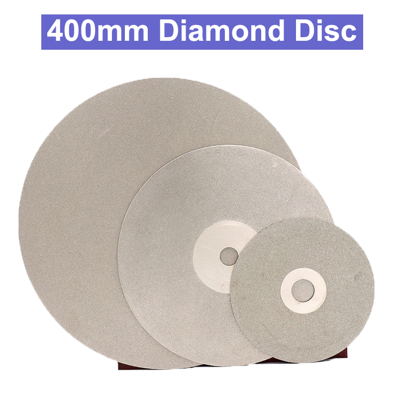 400mm 16 inch Diamond Polishing Grinding Disc Abrasive Wheel Coated Flat Lap Disk for Gemstone Jewelry Rock Inner Hole 12.7mm цены