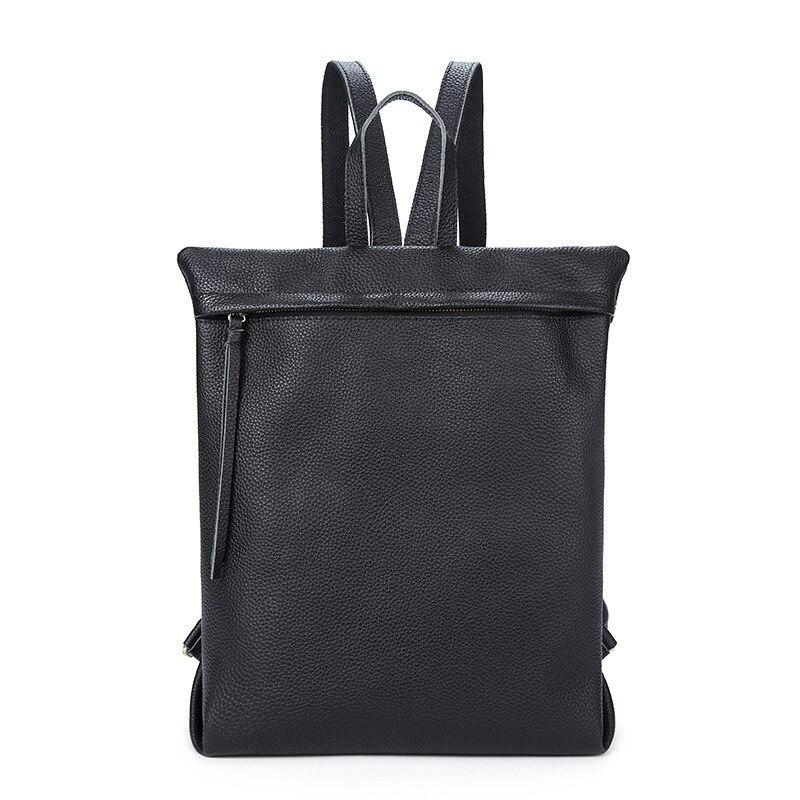 все цены на Genuine cowhide Leather Men Backpack school case Large Capacity Man Travel Bags vintage Business Bag For Man Leisure Laptop Bag онлайн