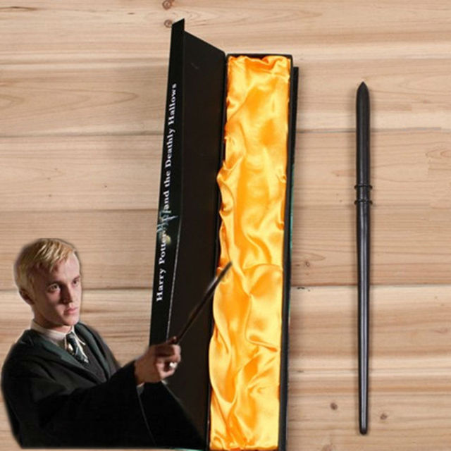 Magie Magic Tricks Creavite Draco Malfoy Magic Wand Harry Potter Cosplay Kids Toys Halloween Gift With High Quality Box Packing