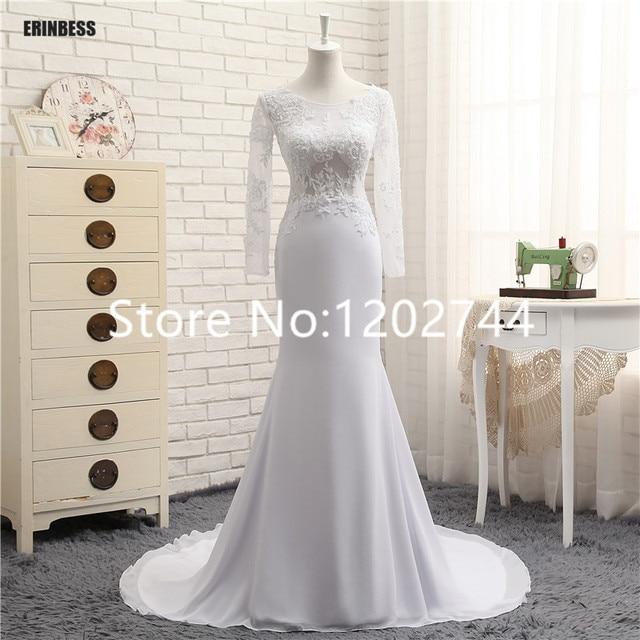 1a4f203357d Prom dresses 2017 white see through long lace prom dress V neck long sleeve  mermaid evening dress vestido de festa longo