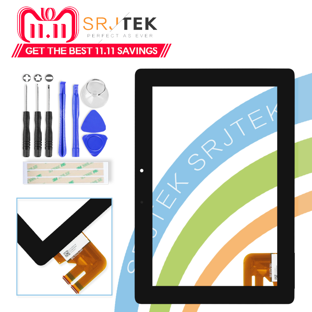 Srjtek til Asus Transformer Pad TF300T TF300 tf300tg G01 Version Black Digitizer Touch Screen Glas 69.10I21. G01