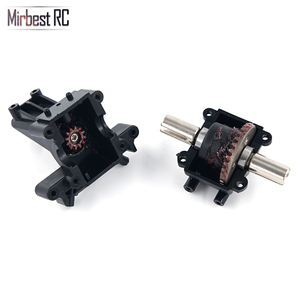 Image 4 - Mirbest RC DIY Parts For Wltoys 12428 Parts 12423 RC car parts Metal gear differential front wave box 12428 Upgrade accessories