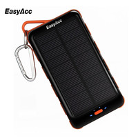 Easyacc 15000mAh Power Bank With Solar Panel And Flashlight For Xiaomi Huawei Smartphones Tablets Bluetooth Speaker