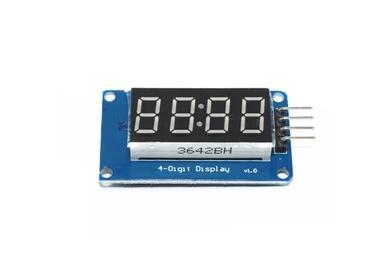 4 биты 0.36 дюймов цифровой led дисплей модуль с часами табло разъем