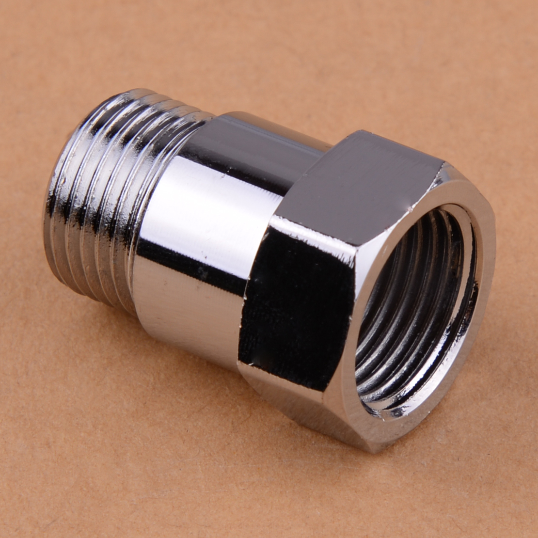 CITALL New Car Auto Silver <font><b>M18</b></font> <font><b>x</b></font> <font><b>1.5</b></font> HHO O2 Oxygen Sensor Extender Adapter Fitting Eliminator Test Pipe Extension Spacer Bung image