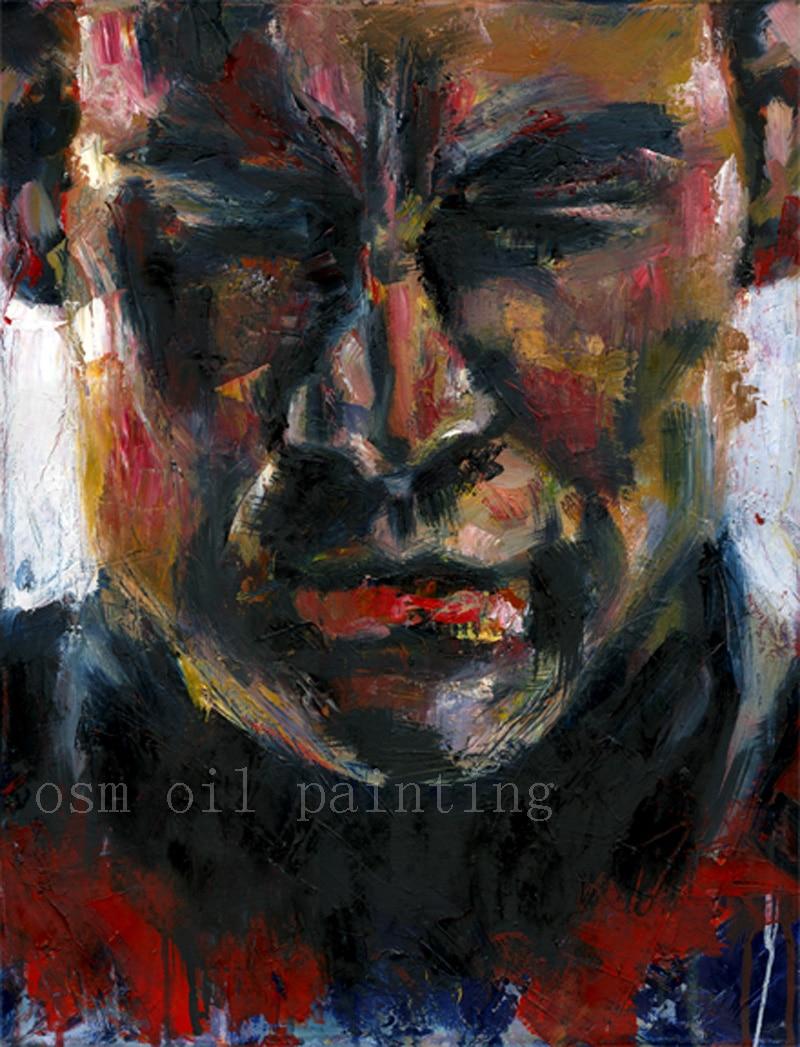 Top Artist Handmade Modern Abstract Portrait Figure Captain America font b Knife b font Oil Painting