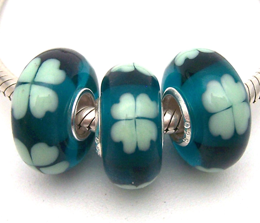 JGSG200 3X 100% Authenticity S925 Sterling Silver Beads Murano Glass beads Fit European Charms Bracelet diy jewelry Lampwork