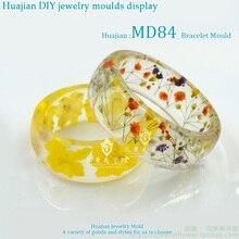 56/58/60/62/64mm Inner Diameter Transparent Silicone Round Bracelet Mould For Resin Real Flower DIY Mold Bangle MD84