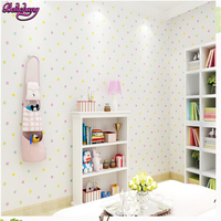 Beibehang Tapety Environmentally Permeable Nonwovens Kids Room Cartoon Colored Dots Boys And Girls Bedroom Background Wallpaper